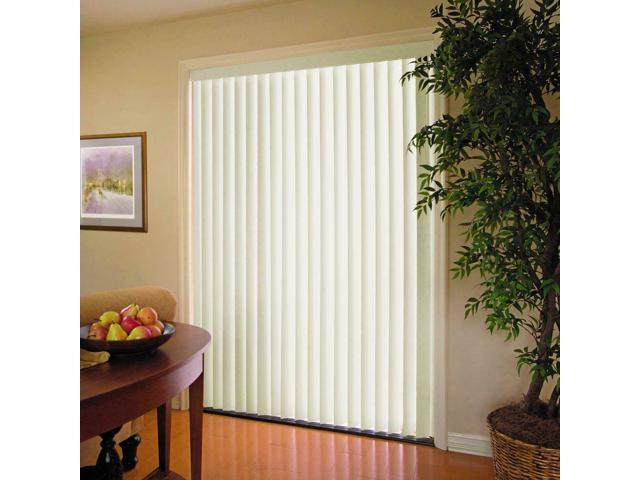 Home Decor Display Vertical Blinds Alabaster 3.5 in x 84 in PVC Window 78 in