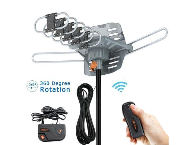 Leadzm 150Mile 1080P Outdoor Amplified TV Antenna Digital Signal HD Install-free