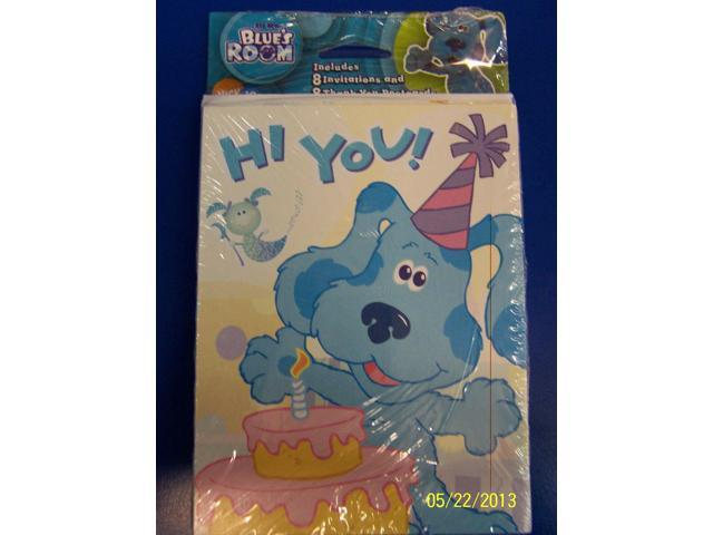 NEW BLUES CLUES SHAPES 8 INVITATIONS /& 8 THANK YOU NOTES PARTY SUPPLIES