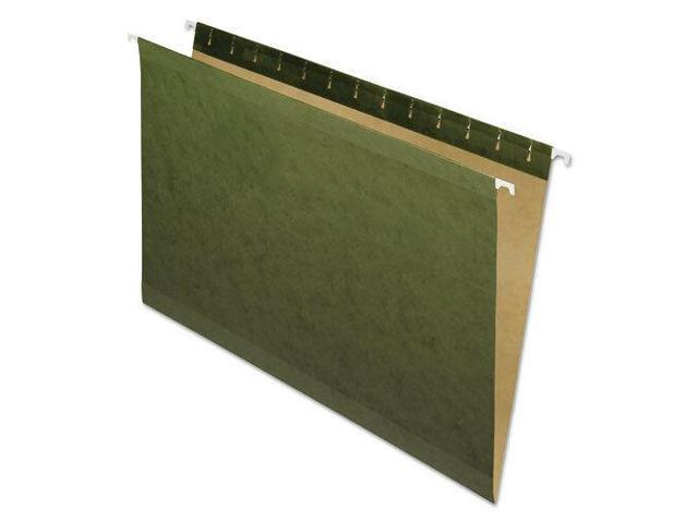Hanging File Folders, No Tabs, Legal, Standard Green, 25/Box