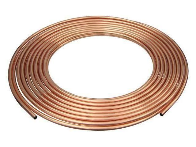 "1//2/"" OD x 2 ft Straight Copper Tubing Type K MUELLER INDUSTRIES KH03002"