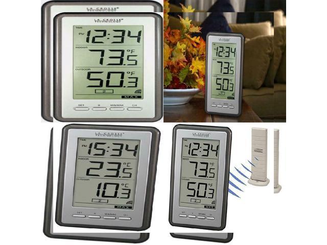 La Crosse Technology WS-9160U-IT Digital Thermometer Indoor//Outdoor Temperature
