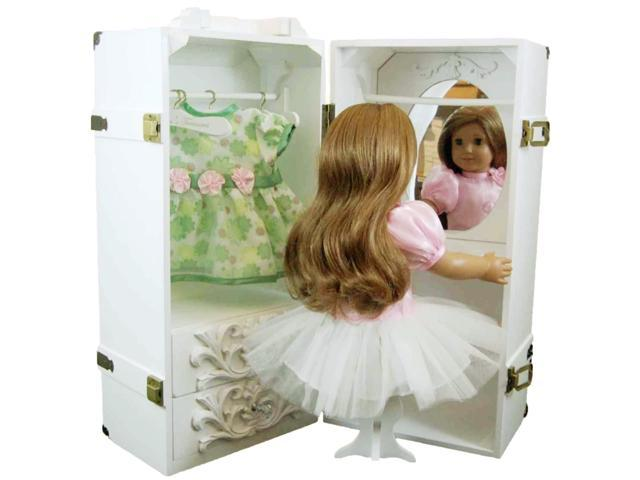 Swell 18 Inch Doll Clothes Storage Case Furniture For American Girl Evergreenethics Interior Chair Design Evergreenethicsorg