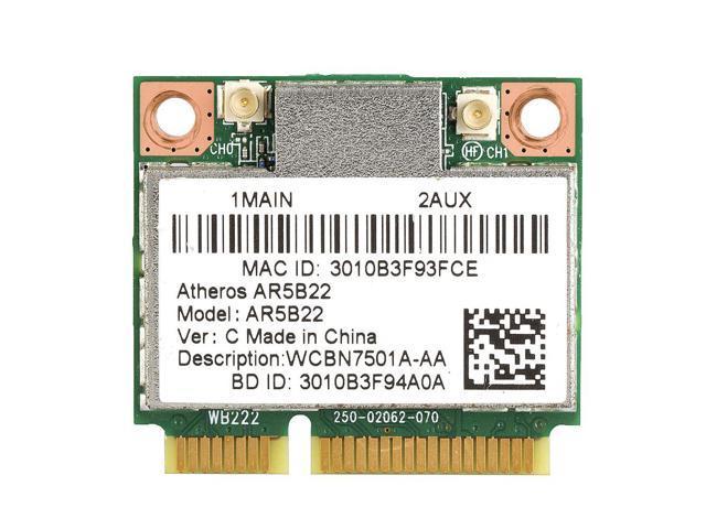 Card for Atheros AR5B22 AR9462 Dual Band 2 4GHz 5GHz Wireless WiFi  Bluetooth Half Mini PCI-e Card - Newegg com