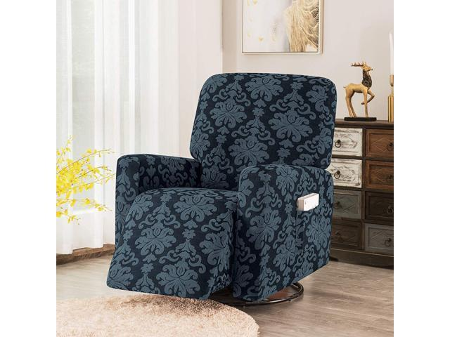 Marvelous Subrtex 1 Piece Elegant Jacquard Recliner Chair Cover Stretch Spandex Sofa Slipcovers Covers Furniture Protector With Elastic Bottom Side Pocket Fit Download Free Architecture Designs Embacsunscenecom