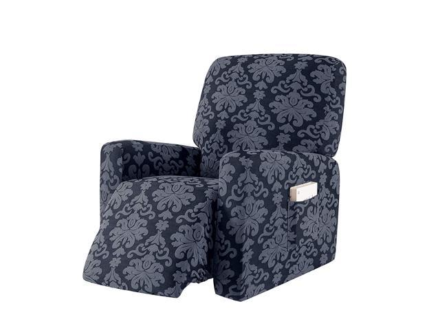 Fantastic Subrtex 1 Piece Elegant Jacquard Recliner Chair Cover Stretch Spandex Sofa Slipcovers Covers Furniture Protector With Elastic Bottom Side Pocket Fit Gmtry Best Dining Table And Chair Ideas Images Gmtryco