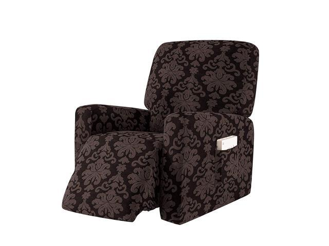 Pleasing Subrtex 1 Piece Elegant Jacquard Recliner Chair Cover Stretch Spandex Sofa Slipcovers Covers Furniture Protector With Elastic Bottom Side Pocket Fit Gamerscity Chair Design For Home Gamerscityorg