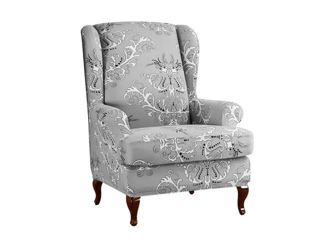 Surprising Subrtex Spandex Universal Wing Back Armchair Covers Floral Printed Chair Slipcovers Furniture Protector Pdpeps Interior Chair Design Pdpepsorg