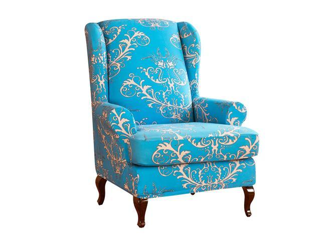 Awe Inspiring Subrtex Spandex Universal Wing Back Armchair Covers Floral Printed Chair Slipcovers Furniture Protector Gmtry Best Dining Table And Chair Ideas Images Gmtryco