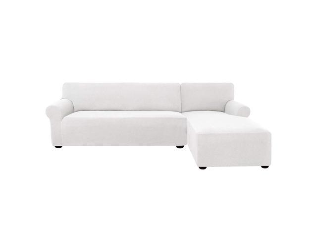 2 Pieces L-Shaped Couch Covers Stretch Fabric Sectional Sofa Slipcovers  (Right Chaise 2 Seats) - Newegg.com