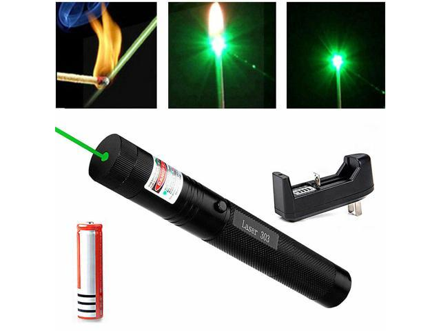 532nm Green Laser Pointer Lazer Pen Zoomable Visible Light 18650+Charger