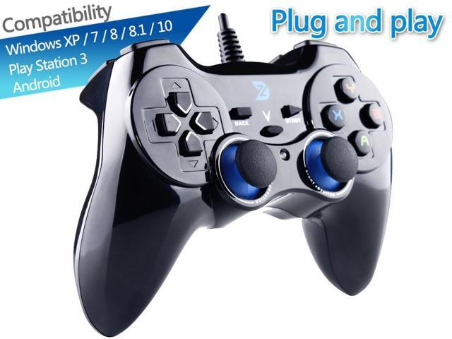 05fe2cc6c007 High Performance USB Wired Gaming Controller Gamepad for PC/Laptop  Computer(Windows XP/7/8/10) & PS3 & Android & Steam - [Black] - Xinput & ...