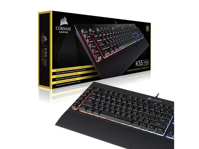 Quiet Satisfying LED Backlit Keys Media Co CORSAIR K55 RGB Gaming Keyboard