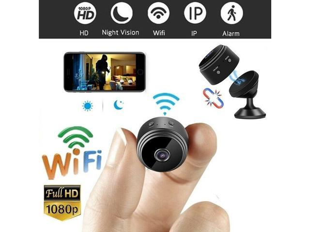Hidden Spy Camera Built In Magnet Wifi Wireless Full Hd 1080p Security Camera Night Vision Motion Activated Indoor Outdoor Small Nanny Cam For Cars