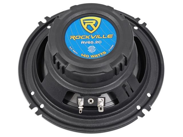 Pair Rockville RV65.2C 6.5 Component Car Speakers 750 Watts//140w RMS CEA Rated