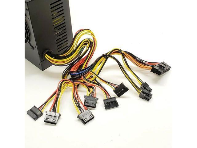 SATA /& PCIe NEW--Lead Power Yellow 12cm-Fan 650w-MAX ATX Power Supply 20+4Pin