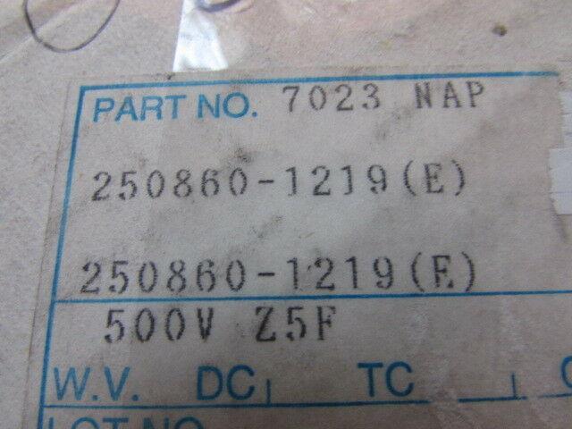 10/% 120pF 500V Z5F NAPC250860-1219 Radial Disc Capacitors New Old Stock 25pcs