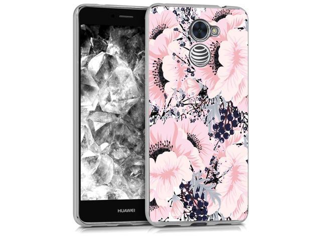 BAISRKE Huawei Ascend XT2 Case, Huawei Y7 Prime Case with Flowers Slim  Shockproof Clear Floral Pattern Soft Flexible TPU Back for Huawei Y7