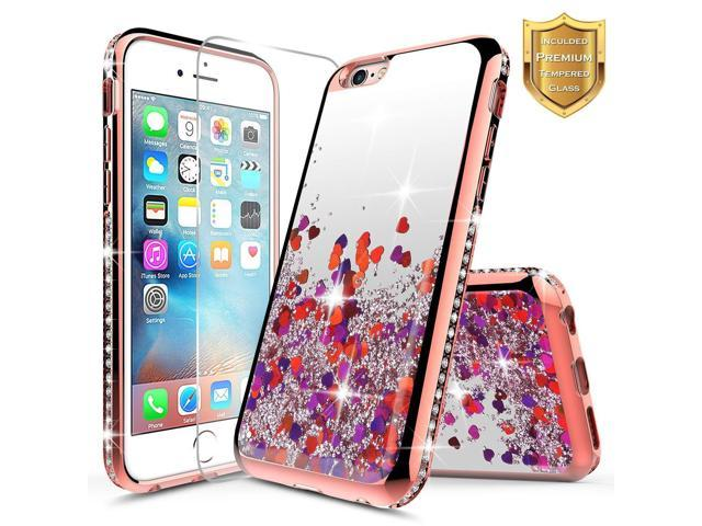 Iphone 6s Case Iphone 6 Glitter Case With Tempered Glass Screen