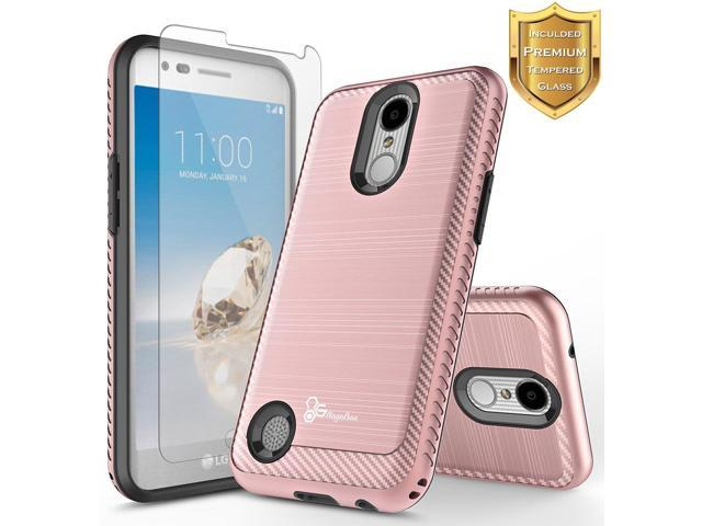 NageBee [Brushed Carbon Fiber] Case Compatible with LG