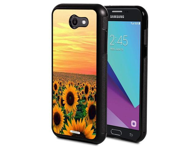 Galaxy J3 2017 Case,AIRWEE Slim Anti-Scratch Shockproof Silicone TPU Back  Protective Cover Case for Galaxy J3 Prime/J3 2017/J3 Emerge,Floral Flower