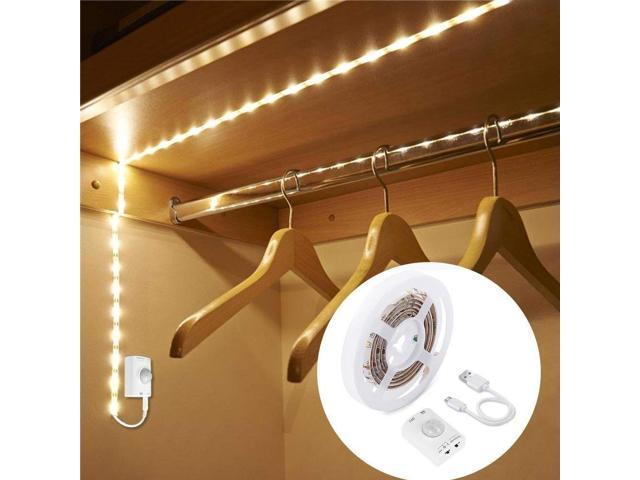 Removable PIR Motion Sensor Closet Light with Heavy Duty Hooks Warm White, USB, 2Pack - Magnetic Suction Lamp for Human Body Sensor Light//Cabinet Lights//Night Lights and More