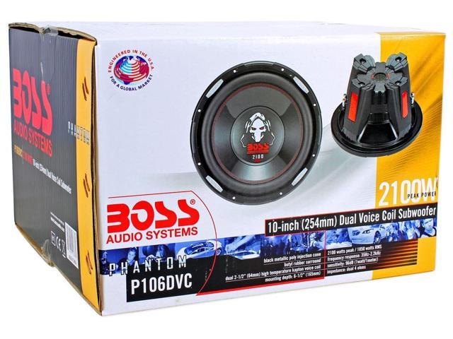 "New BOSS AUDIO Phantom P106DVC 10/"" 4200W DVC Car Subwoofers Power Subs PAIR 2"