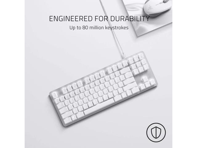Tactile /& Silent Compact Design White Individual Key Lighting BlackWidow Lite Mechanical Tenkeyless Keyboard: Orange Key Switches Detachable Cable Mercury White