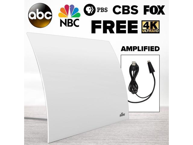 Mohu Leaf Plus Amplified HDTV Antenna w// 60-Mile Range /& 16 Ft Coaxial Cable