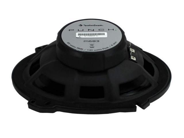 2 Pairs of Rockford Fosgate Punch P1683 260W Peak Gravity Phone Magnet Holder 6 x 8 Punch Series 3-Way Full Range Coaxial Speakers 130W RMS