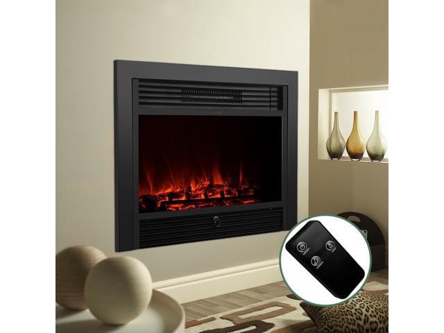 Modern 28 5 Embedded Electric Fireplace Insert Heater Glass Log