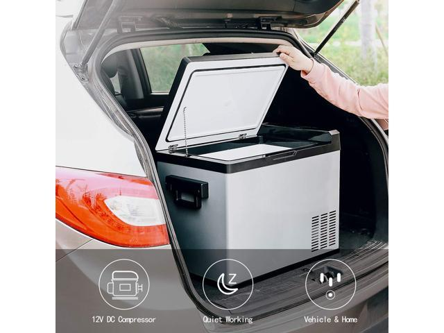 54 Quart Portable RV Refrigerator/Freezer Compact Vehicle Car Fridge  Compressor Electric Cooler for Car,Truck,RV,Boat,Outdoor and Home use  12/24V DC