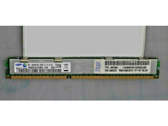IBM Server Memory 8GB PC3-8500 DDR3 1066MHz ECC Registered 240-Pin DIMM 46C7504