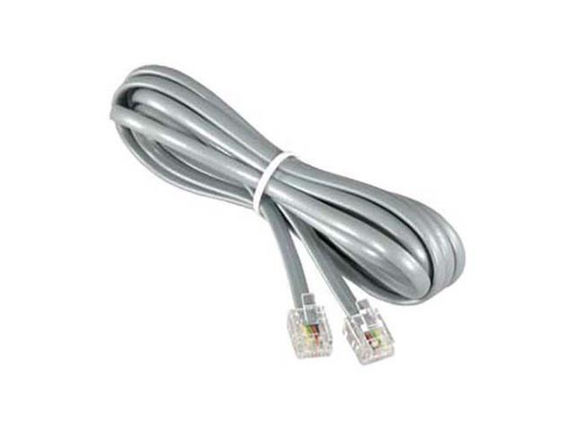 14Ft 28 Gauge RJ11 4C Modular Telephone//Phone Extension Line Cord Cable Wire