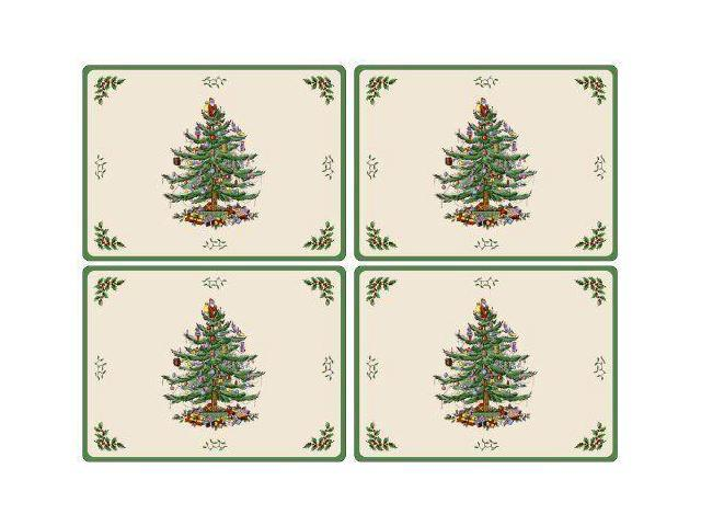 Spode Christmas Tree.Spode Christmas Tree Hardback Placemats Set Of 4 New Ping Newegg Com