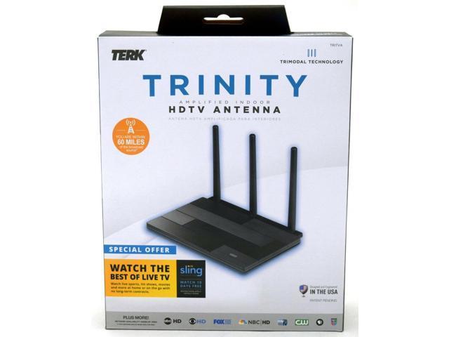 NEW TERK Trinity Amplified Indoor HDTV Antenna TRITVA Signal Channel TV Slim CAW