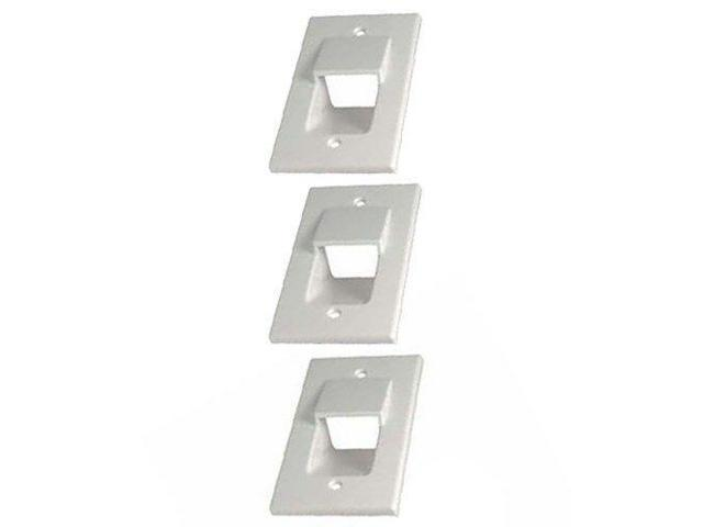 3x 1-Gang  Recessed Wall Plate Low Voltage Pass Through HDMI Audio Video White