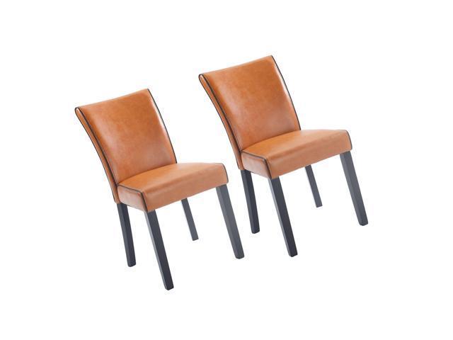Magnificent Milan Meadow Prs Sc Org Meadow Bonded Leather Parsons Chair Set Of 2 Orange Newegg Com Creativecarmelina Interior Chair Design Creativecarmelinacom