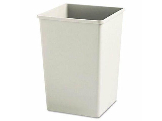 Rubbermaid Untouchable 35 Gallon Square Trash Can, Beige (RCP395800BG) -  Newegg com