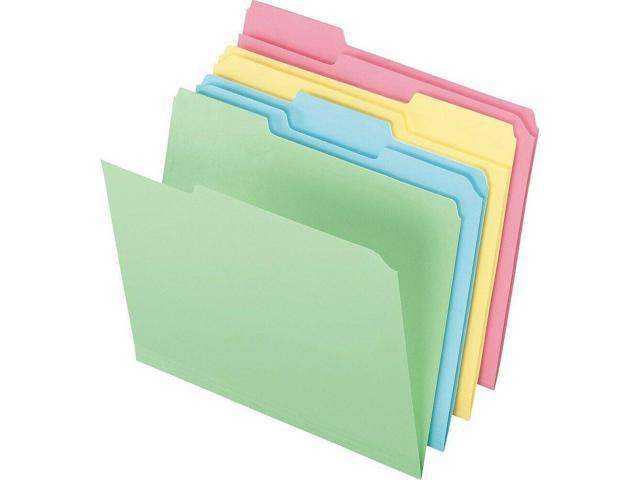 Staples Colored Top-Tab File Folders 3 Tab Assorted Pastels Letter Size  24/PK - Newegg com