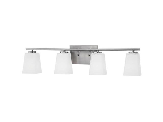 Millennium Lighting 294 Spalding 4 Light Bathroom Vanity Nickel Newegg