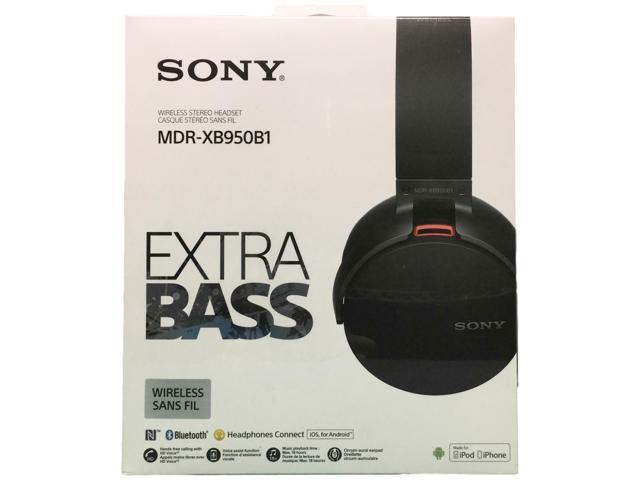 Sony Xb950b1 Extra Bass Bluetooth Headphones Black Mdrxb950b1 B Newegg Com