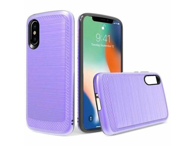 For Apple iPhone XS Max - Slim Brushed Hybrid Case Cover