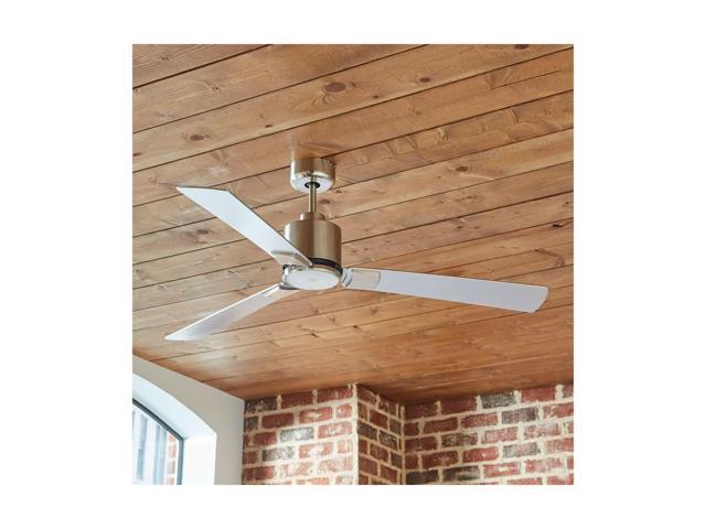 Brushed Nickel Rivet Modern Cylindrical Ceiling Fan 12.5H