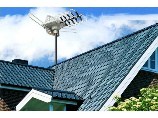 180Mile HDTV 1080P Outdoor Amplified HD TV Antenna Digital Signal UHF VHF 36dB