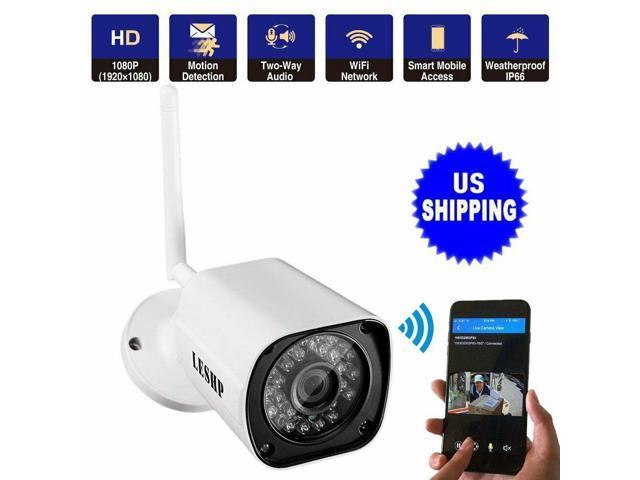 LESHP 1080P IP Network Wired WIFI Security Camera AHD Dual Light Night Alarm UR