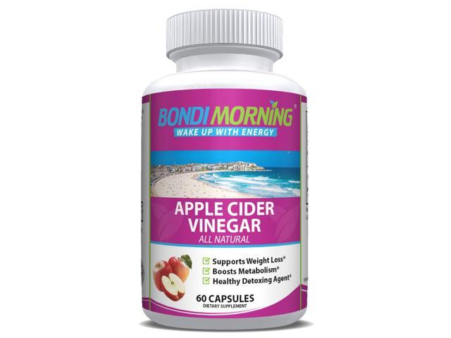 Apple Cider Vinegar 1300mg, High Potency Weight Loss Supplement - 60 Capsules