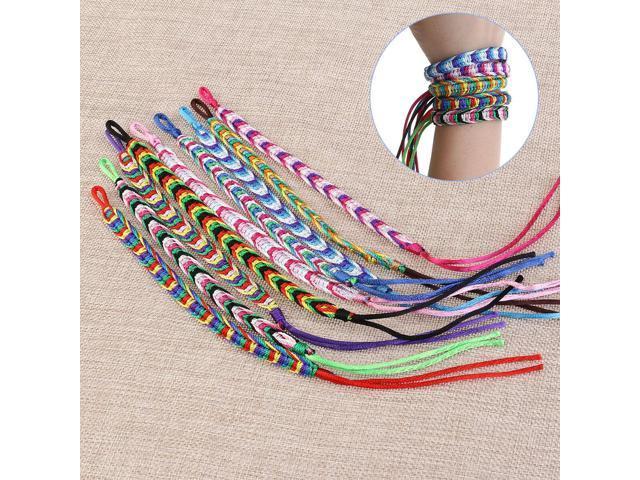9pcs Friendship Cord Bracelets Handmade