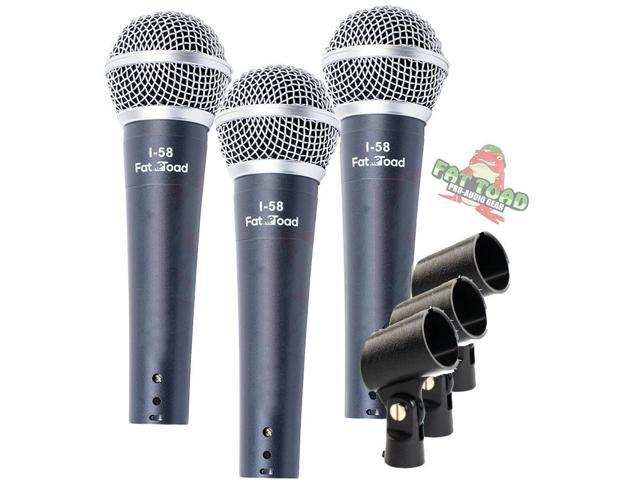 Dynamic Vocal Microphones Cardioid Singing Handheld Recording Stage Mic Pack