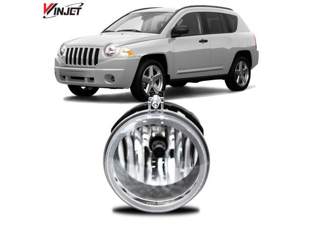 Winjet WJ60-2033-20 05-10 For Chrysler Dodge Jeep Clear Lens One Side Only OE Fog Light Replacement